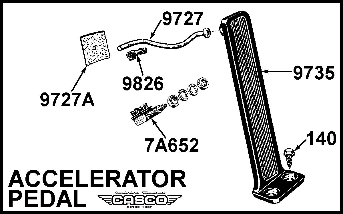 rod - accelerator pedal