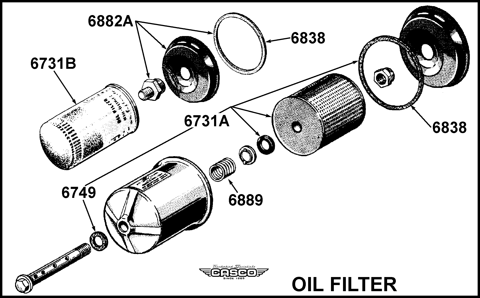 oil filter element - spin on